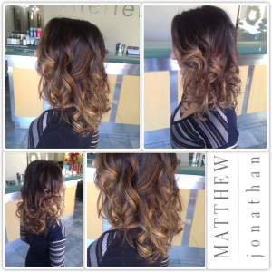 Matthew Jonathan hairstylist/oakville hair salon /balayage sombe the new ombre