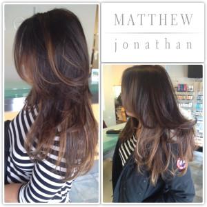 Matthew Jonathan hairstylist:oakville hair salon:Sombre ombre balayage