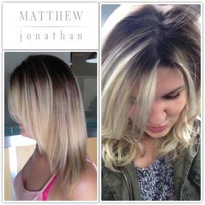 Balayge Sombre Blondes Matthew Jonathan Stylist/Oakville salon