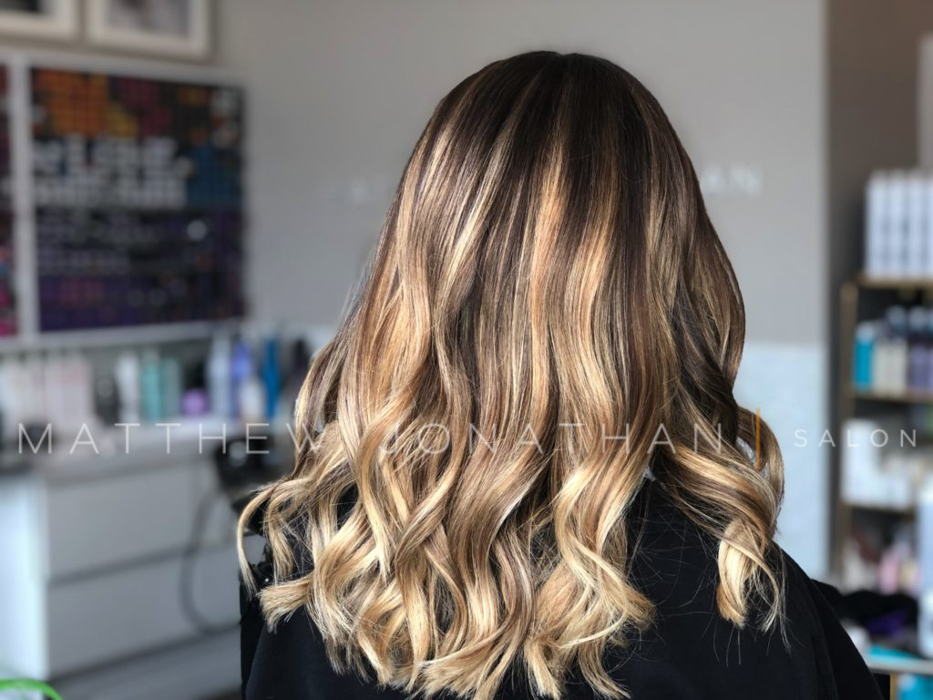 balayage before after