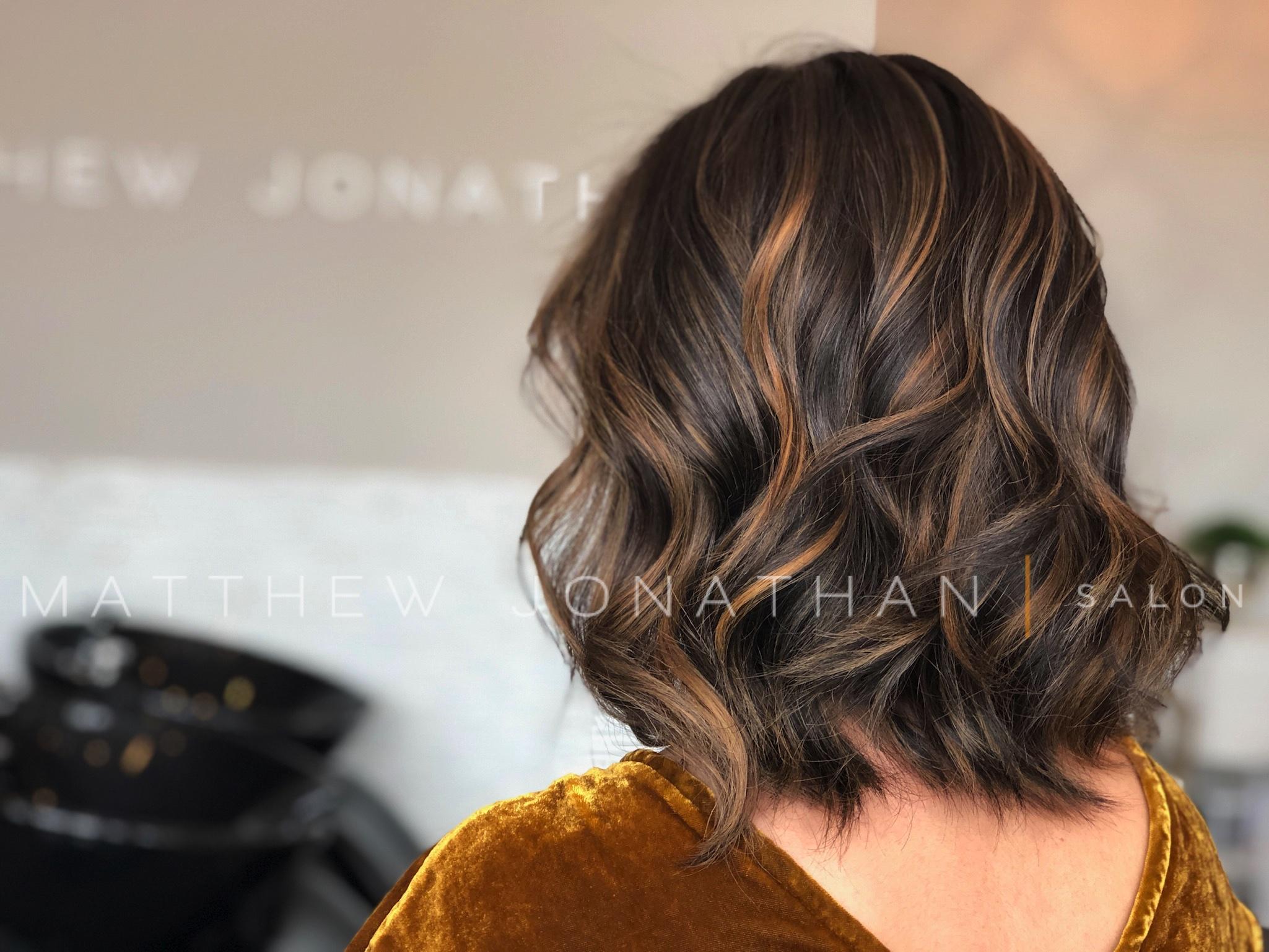 brunette balayage oakville
